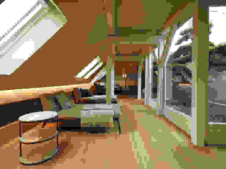 Penthouse Zürich 250m2 Moderne Wohnzimmer von Iria Degen Interiors Modern