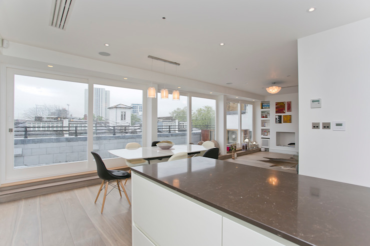 Kitchen and dining area Modern dining room by Temza design and build Modern