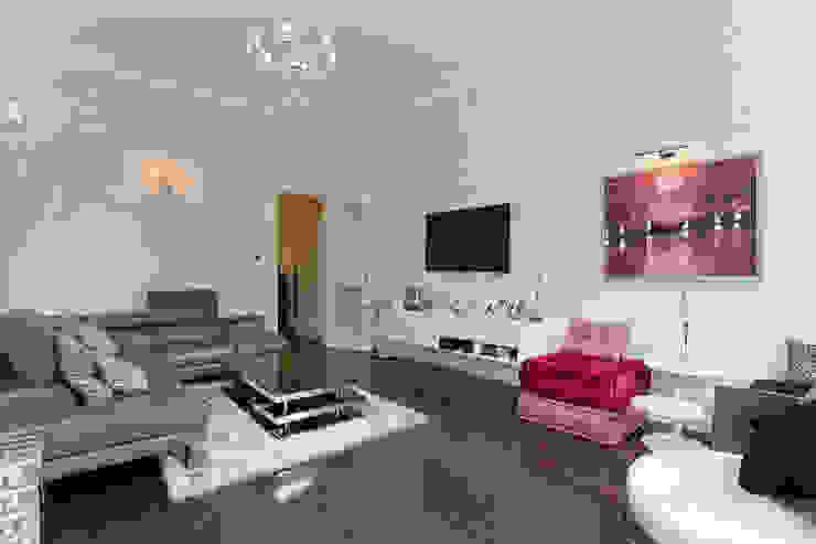 Living room by Temza design and build Сучасний