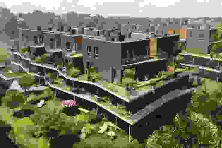 osiedle mieszkaniowe Marina, ul Krzyżówki, Warszawa- projekt Nowoczesne domy od Marek Rytych Nowoczesny