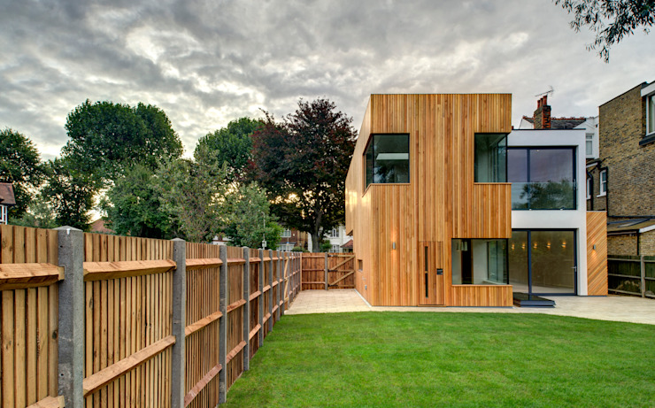 Rear Modern houses by MZO TARR Architects Modern