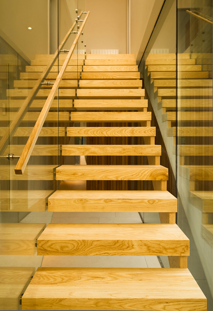 Materials Modern corridor, hallway & stairs by MZO TARR Architects Modern