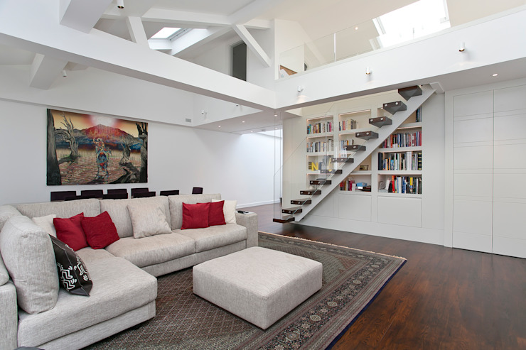 Living room: modern  by Temza design and build, Modern