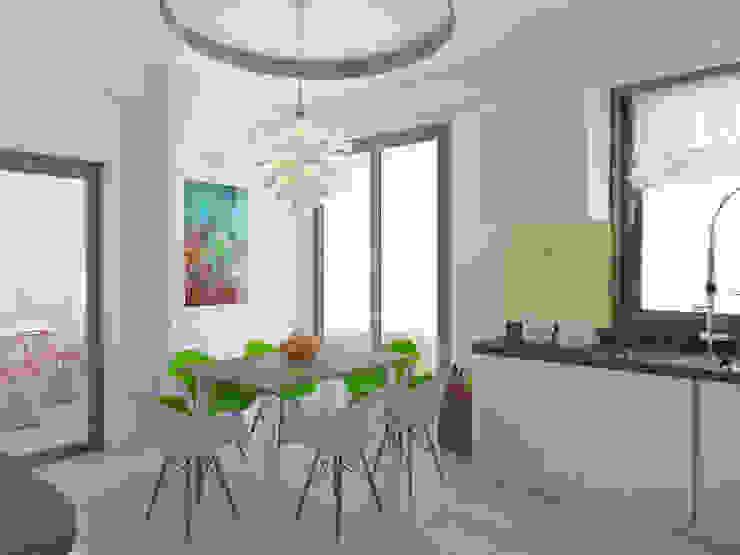 Kitchen by İNDEKSA Mimarlık İç Mimarlık İnşaat Taahüt Ltd.Şti.,