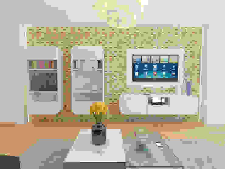 İNDEKSA Mimarlık İç Mimarlık İnşaat Taahüt Ltd.Şti. Living roomTV stands & cabinets