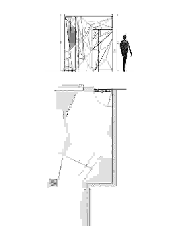 antonio giordano architetto Corridor, hallway & stairsClothes hooks & stands