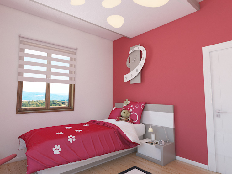Bedroom by İNDEKSA Mimarlık İç Mimarlık İnşaat Taahüt Ltd.Şti.,