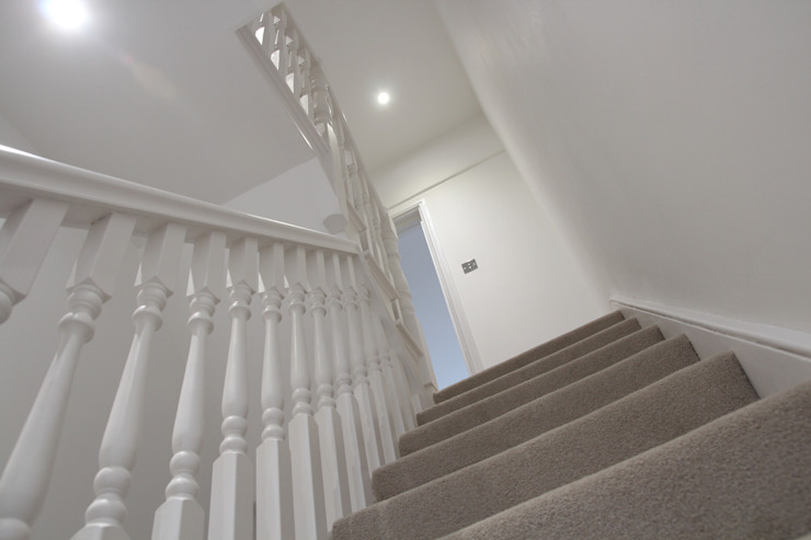 House in Tooting Modern corridor, hallway & stairs by Bolans Architects Modern