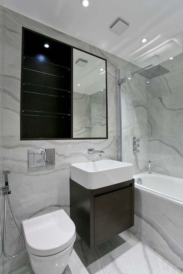 Bathroom 3 Modern bathroom by Temza design and build Modern