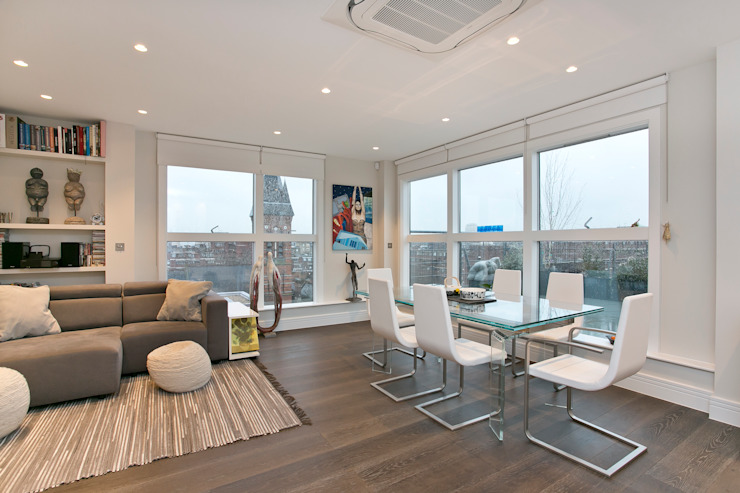 Dining area Modern dining room by Temza design and build Modern