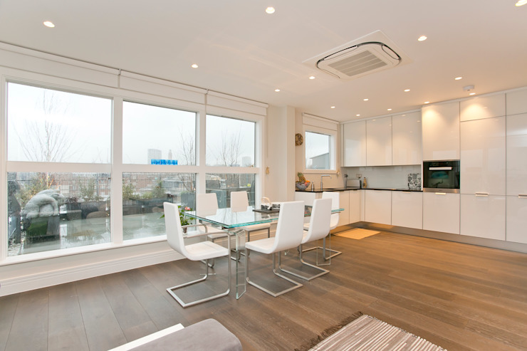 Dining room Modern dining room by Temza design and build Modern