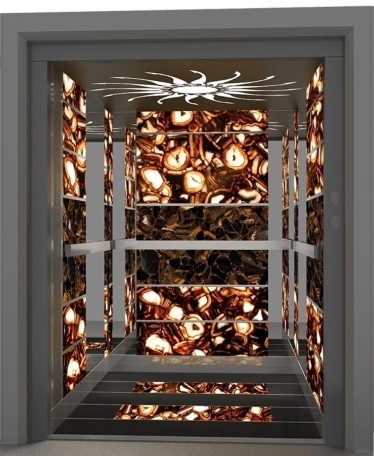 Back lit Elegant Agate Modern corridor, hallway & stairs by INSPIRATIONS AND INNOVATIONS Ltd. Modern