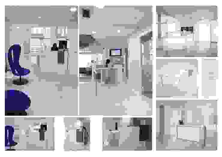 mostrador de recepción de elementos interiorismo y diseño
