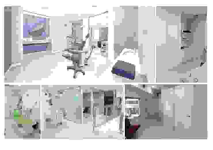 cabinas dentales Clínicas de estilo moderno de elementos interiorismo y diseño Moderno