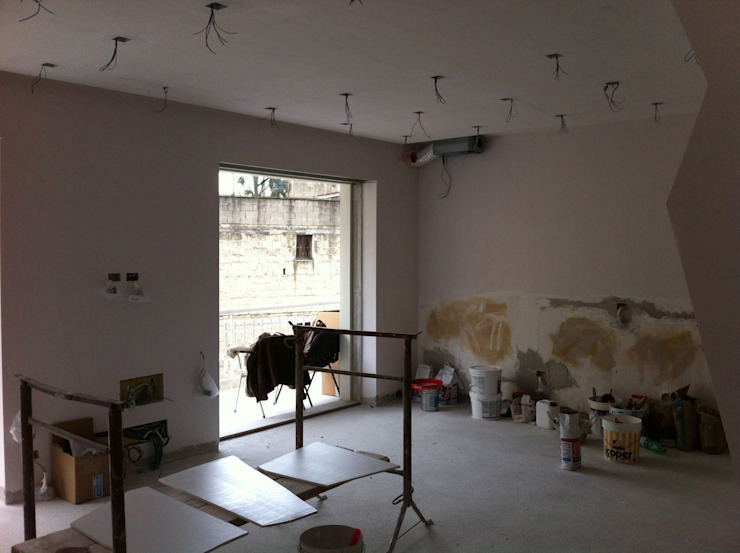 antonio giordano architetto Moderne Wohnzimmer