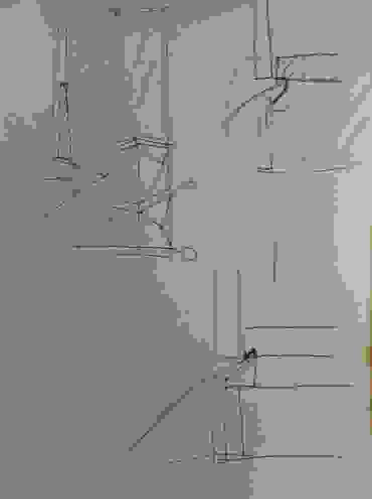 antonio giordano architetto Modern corridor, hallway & stairs