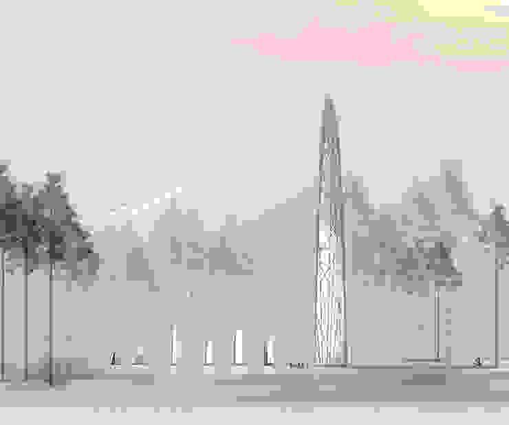 культурный центр Конференц-центры в стиле модерн от Megabudka Модерн