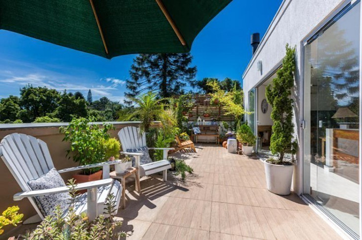 Blacher Arquitetura Jardines de estilo ecléctico