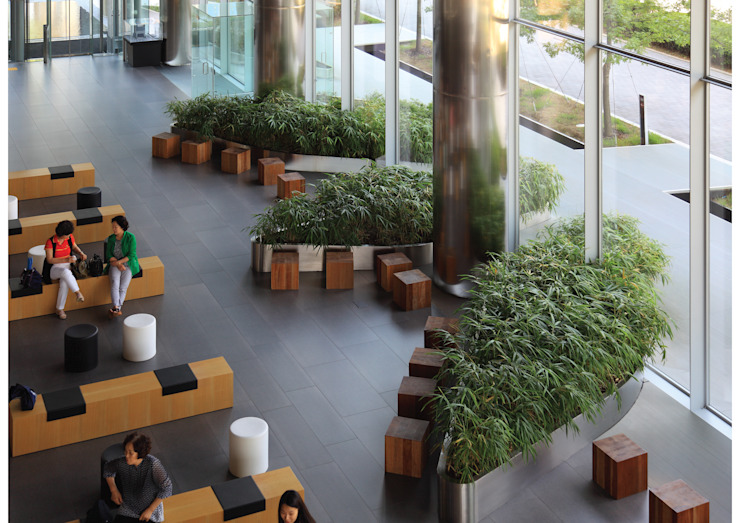 Materializing the Light: Landscape for the New Headquarters of SBS 모던스타일 서재 / 사무실 by parkkim 모던