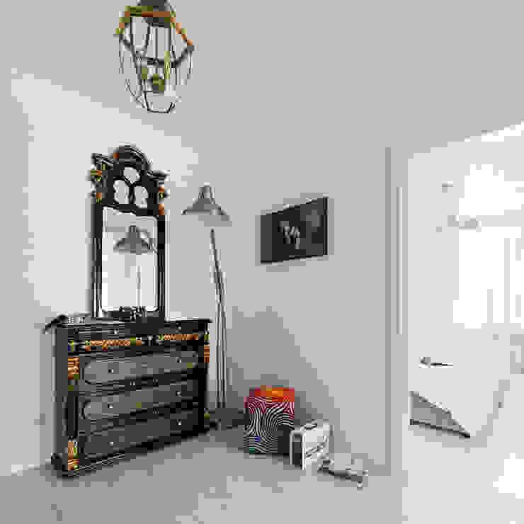 квартира <q>Дом для художника</q> Коридор, прихожая и лестница в эклектичном стиле от 'Живые вещи 'Максимовых- Павлычевых' Эклектичный