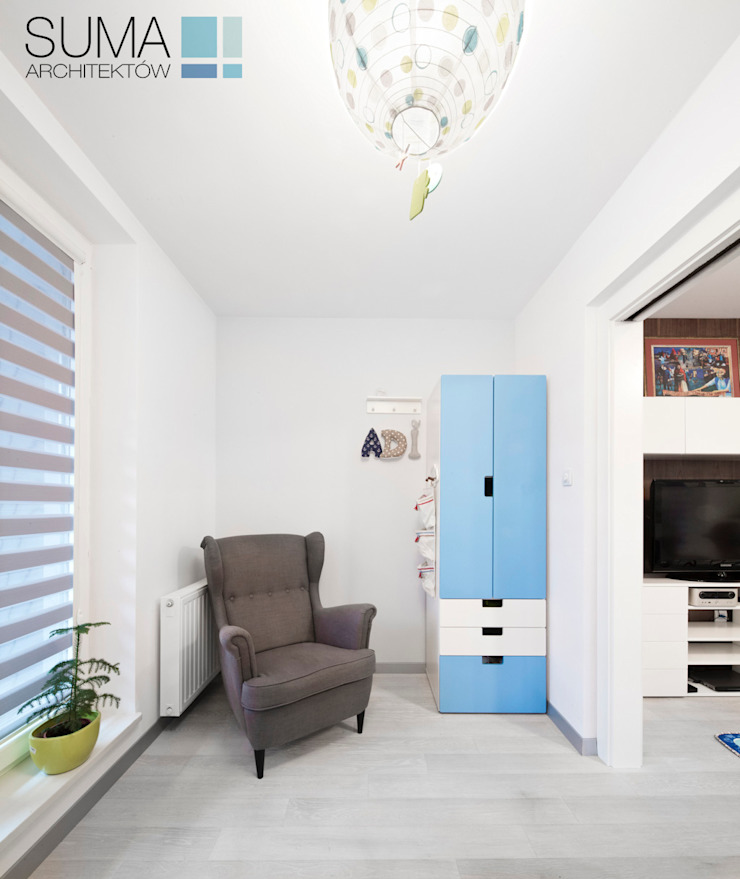 BLUE ONE SUMA Architektów Nowoczesny pokój dziecięcy