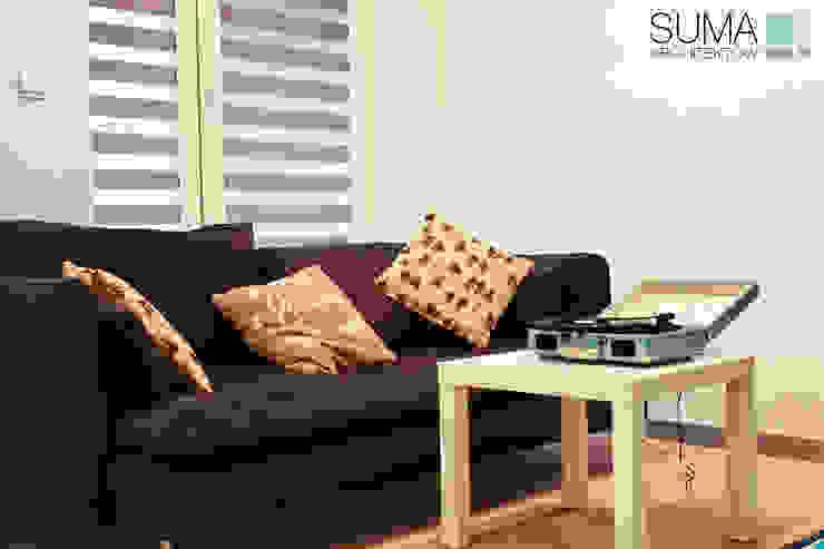 BLUE ONE Nowoczesny salon od SUMA Architektów Nowoczesny