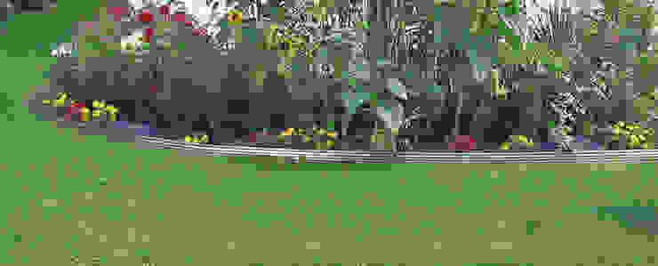Bunte Blumeninseln klar eingefasst mit Gartenprofil 3000 Moderner Garten von terra-S GmbH Modern