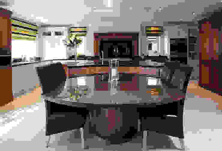 Walnut hand made kitchen in Hertfordshire Modern kitchen by John Ladbury and Company Modern