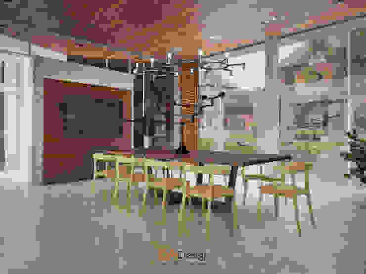 Suburban residential Столовая комната в стиле минимализм от DA-Design Минимализм