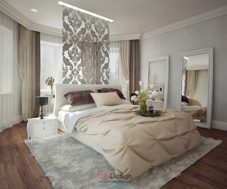 Camera da letto eclettica di DA-Design Eclettico