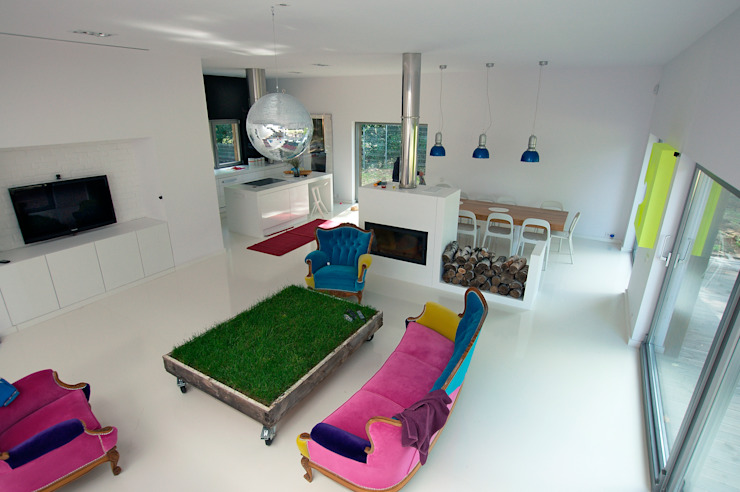 Salones de estilo  de Neostudio Architekci, Moderno