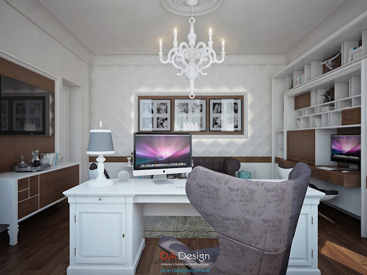 Suburban residential Рабочий кабинет в классическом стиле от DA-Design Классический