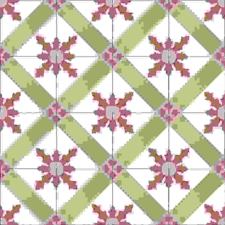 CARLOS - cementowe płtytki podłogowe od Kolory Maroka Śródziemnomorski