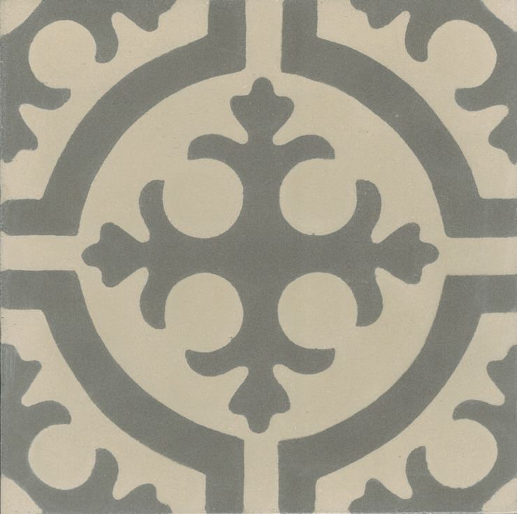 CARLITOS - cementowe płytki podłogowe od Kolory Maroka Śródziemnomorski