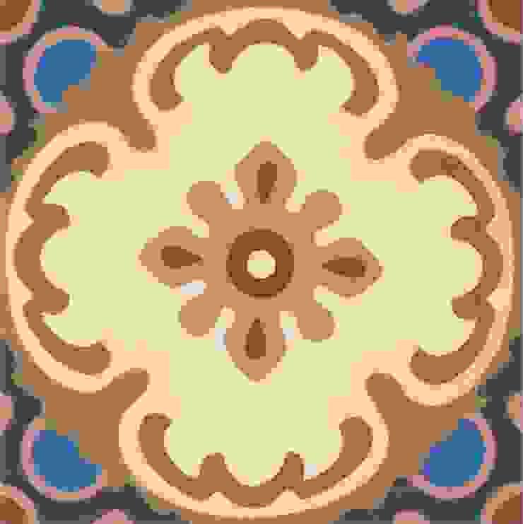DIEGO - cementowe płytki podłogowe od Kolory Maroka Śródziemnomorski