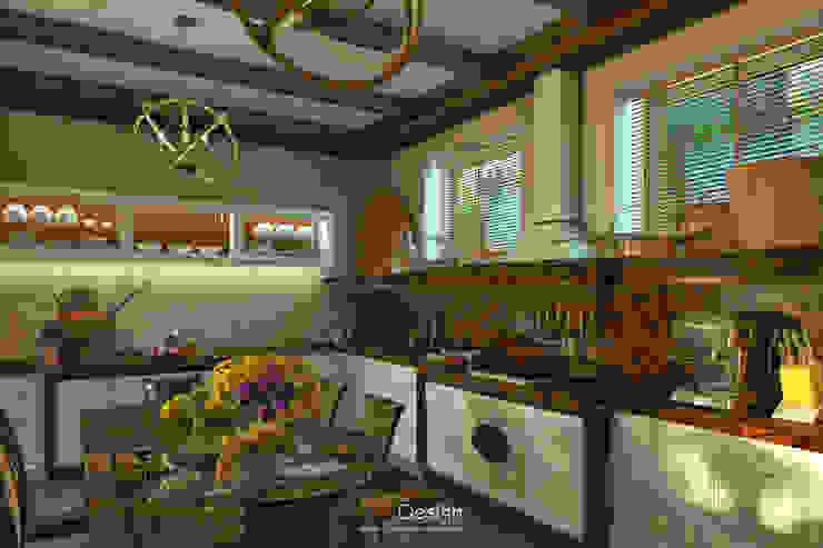 Colonian style Кухня в колониальном стиле от DA-Design Колониальный