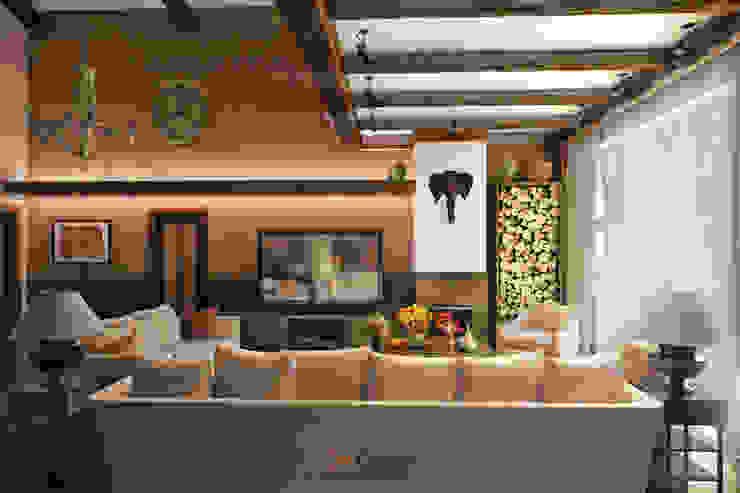 Colonian style Гостиная в колониальном стиле от DA-Design Колониальный