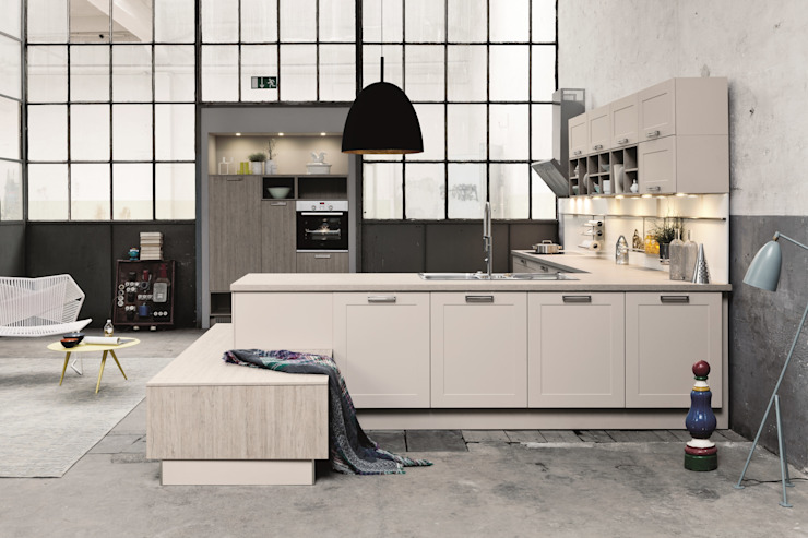 Warehouse kitchen design Industrial style kitchen by LWK London Kitchens Industrial