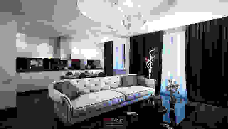 Glamour Apartment Гостиные в эклектичном стиле от DA-Design Эклектичный