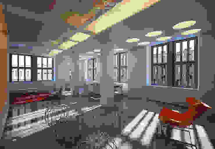 Visualisation of apartment, loft Гостиная в стиле лофт от DA-Design Лофт