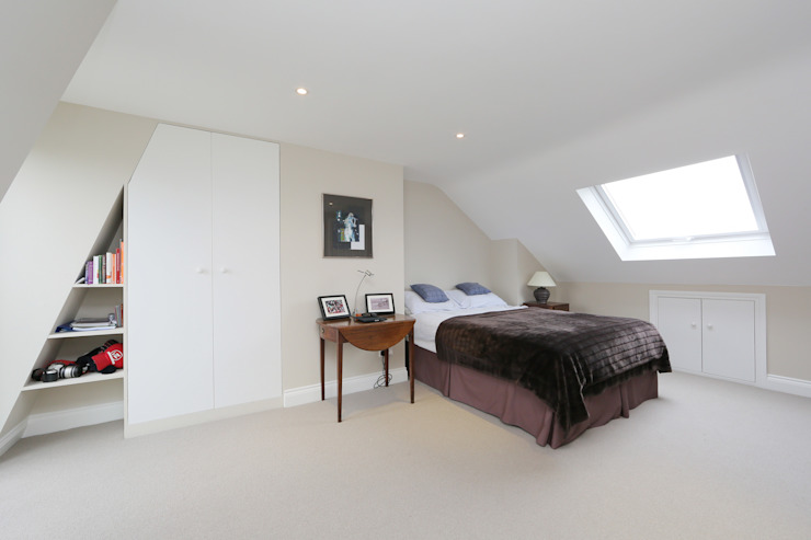 ​mansard loft conversion fulham 모던스타일 침실 by homify 모던