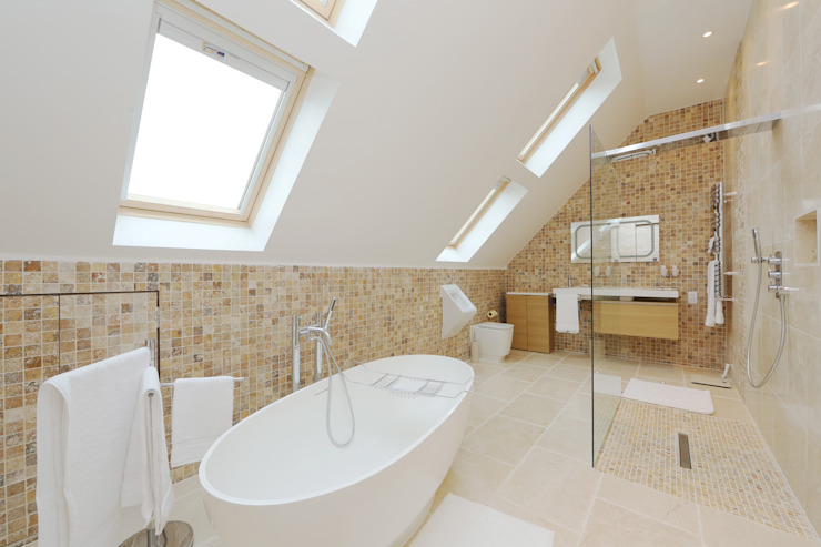 ​velux loft conversion surrey Modern bathroom by homify Modern