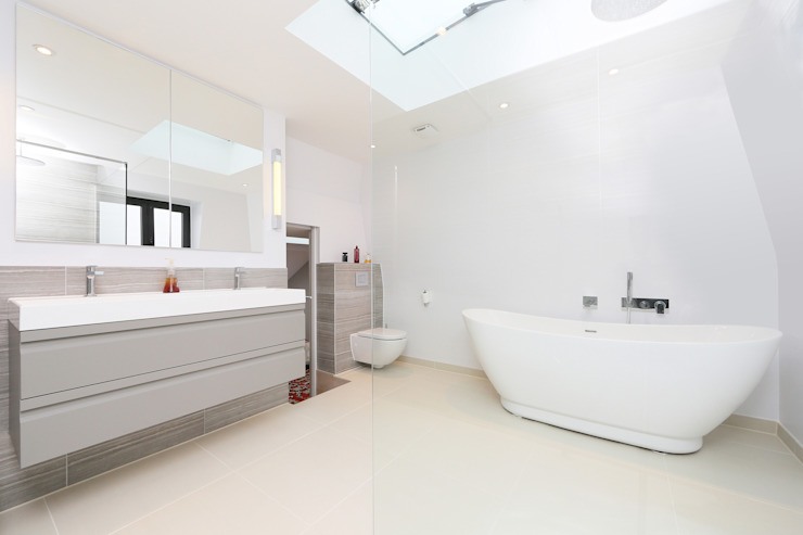 ​mansard loft conversion wandsworth Modern bathroom by homify Modern