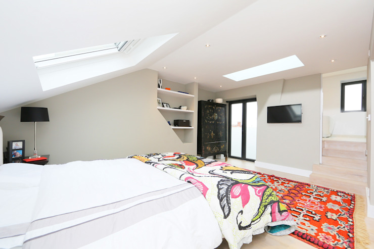 ​mansard loft conversion wandsworth Modern style bedroom by homify Modern