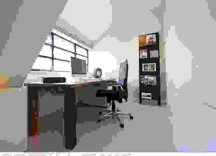 transformatie naar een ingetogen luxe villa te Heiloo Moderne studeerkamer van Heleen Rombout interieurarchitect BNI Modern