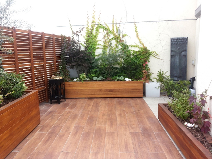 Balcon, Veranda & Terrasse tropicaux par GREENERIA Tropical