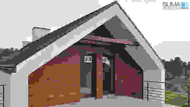 SIMPLE ONE Minimalistyczne domy od SUMA Architektów Minimalistyczny
