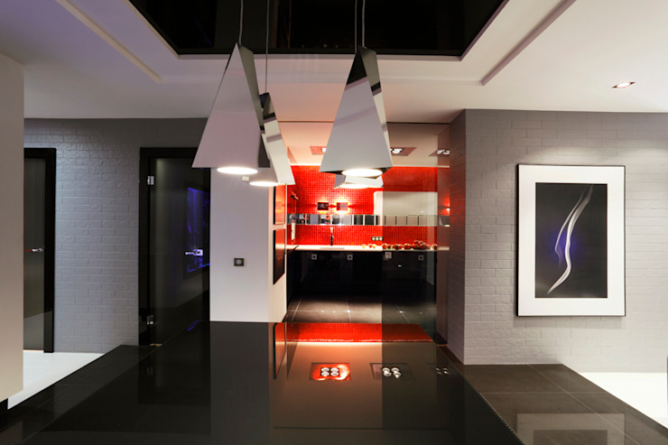 Красное на черном Кухня в стиле минимализм от Худякова Людмила Минимализм