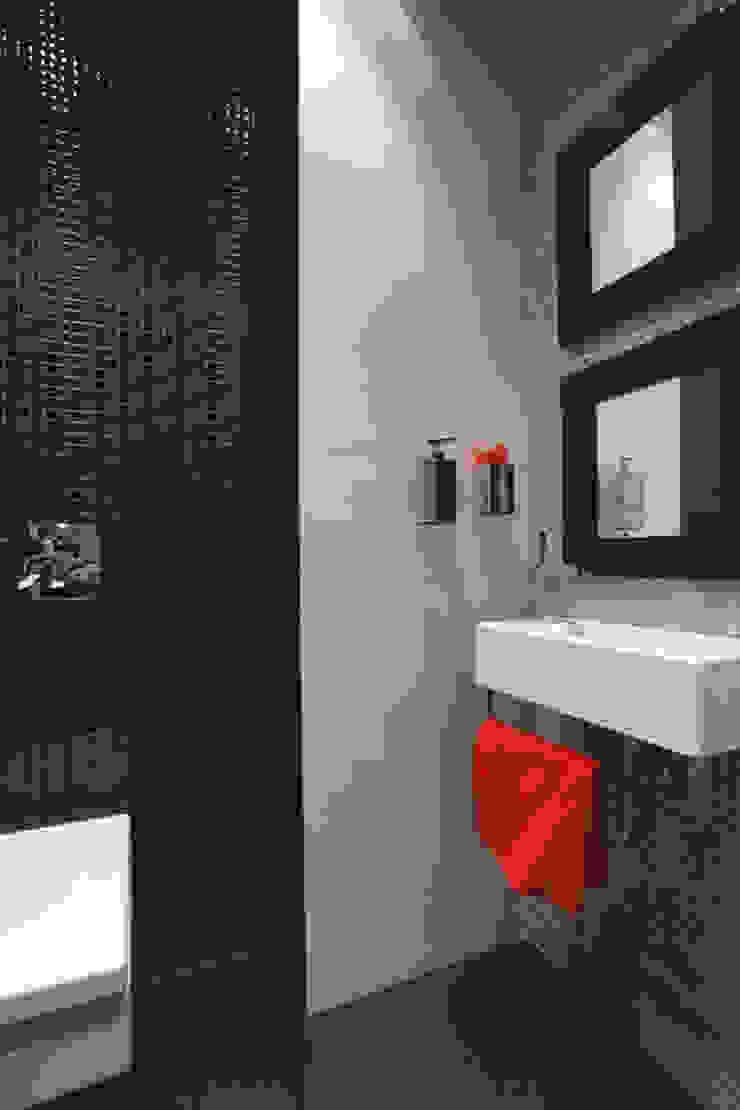 Красное на черном Ванная комната в стиле минимализм от Худякова Людмила Минимализм
