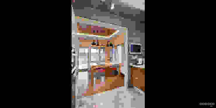 Вид на столовую Столовая комната в стиле минимализм от oneione Минимализм